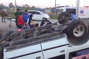 ขับรถหลับในจนรถเกิดอุบัติเหตุ